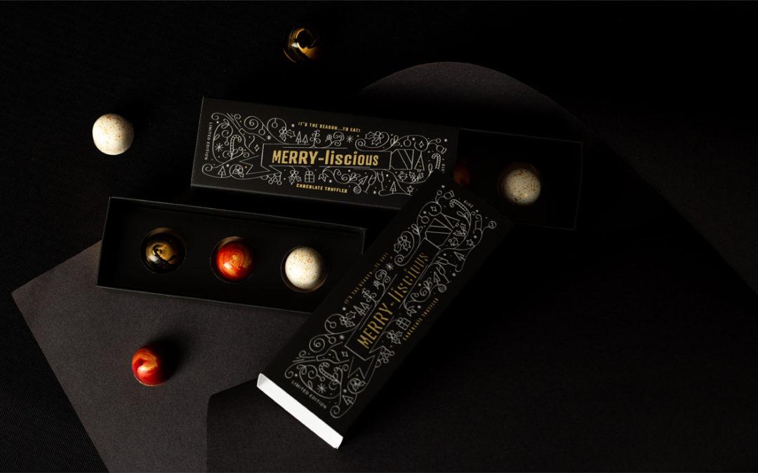 Merry-licious chocolate-trio box